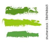 realistic green vector brush... | Shutterstock .eps vector #586968665