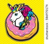 pop art fashion chic cute magic ... | Shutterstock .eps vector #586970174