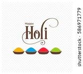 illustration of holi festival