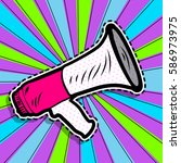 pop art megaphone design.