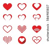 heart vector icon set | Shutterstock .eps vector #586985837