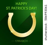 st. patrick's day greeting card ... | Shutterstock .eps vector #586993061