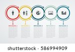 infographic design template... | Shutterstock .eps vector #586994909