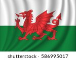 flag of wales | Shutterstock . vector #586995017