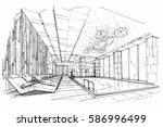 sketch streaks swimming pool ...   Shutterstock .eps vector #586996499