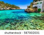 cala santanyi  beautiful... | Shutterstock . vector #587002031