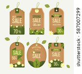 spring style sale label | Shutterstock .eps vector #587007299