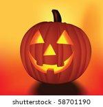 halloween pumpkin. vector | Shutterstock .eps vector #58701190