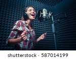 Singing Woman In A Recording...