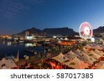 sunset over the v a waterfront... | Shutterstock . vector #587017385