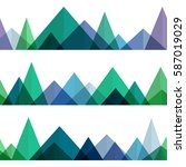 abstract mountains ridges in... | Shutterstock .eps vector #587019029