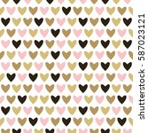 seamless pattern hearts.... | Shutterstock .eps vector #587023121