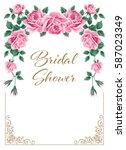 bridal shower or wedding...   Shutterstock . vector #587023349