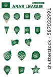 arab league flag collection.... | Shutterstock .eps vector #587032991