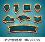 colorful retro marquee stylish... | Shutterstock .eps vector #587034701