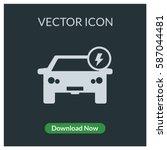 electric car vector icon | Shutterstock .eps vector #587044481