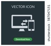 data transfer pc mobile phone... | Shutterstock .eps vector #587047151