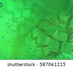 virtual digits abstract 3d... | Shutterstock . vector #587061215