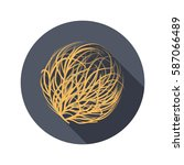 tumbleweed color flat icon for... | Shutterstock .eps vector #587066489