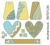 collection with vector tags ... | Shutterstock .eps vector #58707130