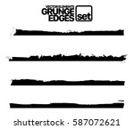 set of grunge and ink stroke... | Shutterstock .eps vector #587072621