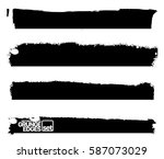 set of grunge and ink stroke... | Shutterstock .eps vector #587073029