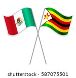 mexican and zimbabwean crossed... | Shutterstock .eps vector #587075501