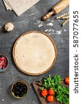 ingredients for cooking... | Shutterstock . vector #587077655