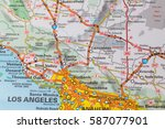 travel concept in the usa. map...   Shutterstock . vector #587077901
