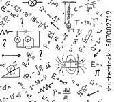 science doodle background  ... | Shutterstock .eps vector #587082719