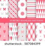 ten different seamless patterns ... | Shutterstock .eps vector #587084399