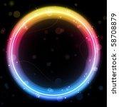 Vector   Rainbow Circle Border...