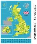 united kingdom | Shutterstock .eps vector #587092817