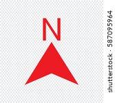 north icon    Shutterstock .eps vector #587095964