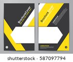 brochure design. corporate... | Shutterstock .eps vector #587097794