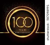 one hundred years birthday... | Shutterstock .eps vector #587098991