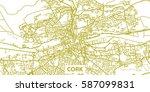 detailed vector map of cork in... | Shutterstock .eps vector #587099831