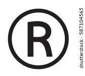 registered trademark icon | Shutterstock .eps vector #587104565