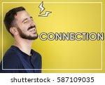 connection link network... | Shutterstock . vector #587109035
