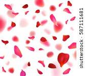 Rose Petals Background.