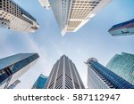 central business district in... | Shutterstock . vector #587112947