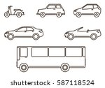 Stock vector transportation icon set 587118524