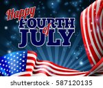 a fourth of july independence...   Shutterstock .eps vector #587120135