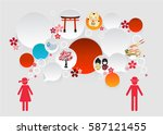 bubble talk infographic for... | Shutterstock .eps vector #587121455