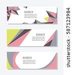 horizontal business banner | Shutterstock .eps vector #587123984