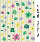 seamless pattern with flowers ... | Shutterstock .eps vector #58712509