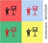 businessman and blackboard...   Shutterstock .eps vector #587125169