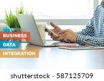 business data integration... | Shutterstock . vector #587125709