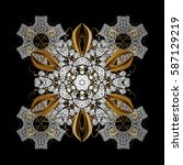 traditional arabic decor on... | Shutterstock .eps vector #587129219