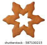 gingerbread star cookie... | Shutterstock . vector #587130215